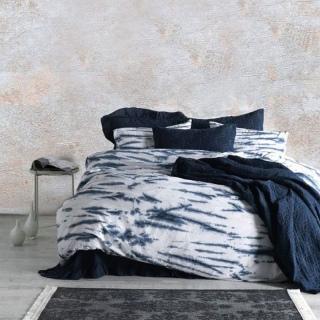 Комплект постельного белья La Calin Поплин темно-синий Евростандарт