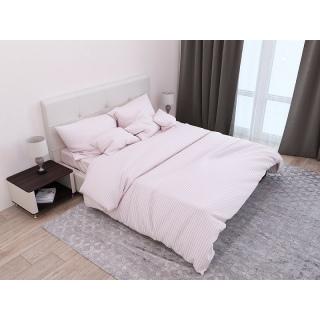 Комплект постельного белья Stripe Flour сатин-страйп пудровый Полуторный 《SoundSleep》 — Папай | 201020-37065 • ss-93166126 •