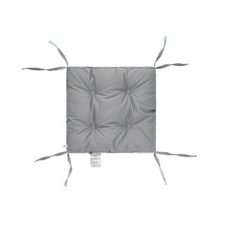 Подушка на стул DOTINEM COLOR (КОЛОР) серый 40x40 (борт 5 см)