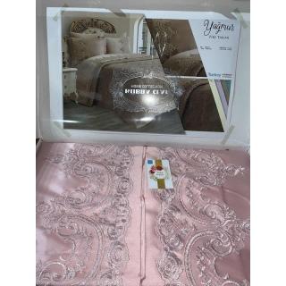 Покрывало с наволочками Kubra Class полиэстер Yagmur 240x250 см+ 50x70 (2) розовый 《Textiles-S》 — Папай | 80220-29301 • textiles-s-ts-01585 •