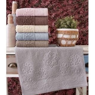Набор махровых полотенец Sikel жаккард Albedo 30x50 6 шт 《Textiles-S》 — Папай | 80220-29177 • textiles-s-8681049357601 •