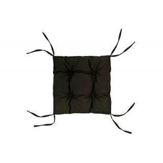 Подушка на стул DOTINEM COLOR (КОЛОР) коричневый 40x40 (борт 5 см)