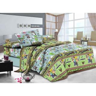 Комплект постельного белья 20-127 Minecraft Ранфорс Подростковый Зеленый 《Marcel》 — Папай | 90720-32340 • marcelCB0005211 •