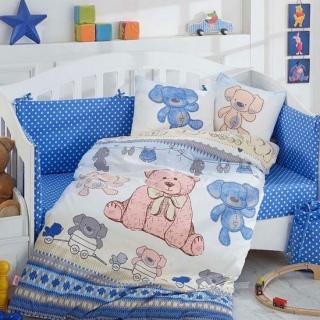 Комплект постельного белья детский Tombik голубой 100x150/2*35x45