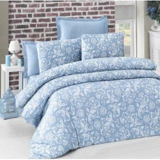 Комплект постельного белья Sateen VERANO голубой Евростандарт 200x220/2x50x70/2x70x70