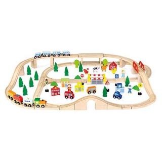 Игрушка Железная дорога, 90 деталей (50998)