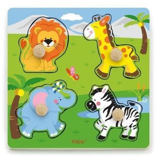 Рамка-вкладыш Дикие животные (50840) 《Viga Toys》 — Папай | 200919-23783 • Viga Toys50840 • 6934510508401