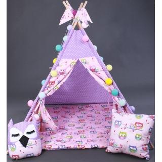 Вигвам Фиолетовые Совы Шалаш Игровой домик Детская палатка