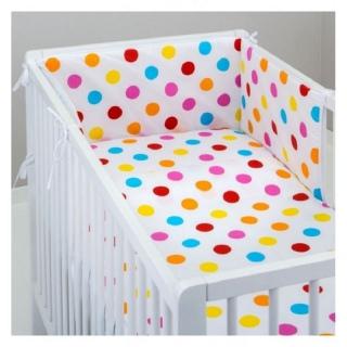 Детский комплект постельного белья в кроватку 6 в 1 Горохи