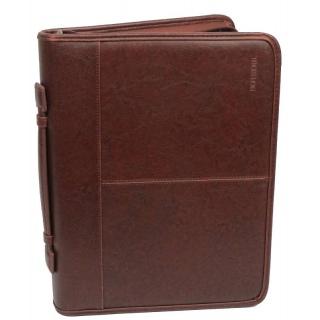 Папка с блокнотом и калькулятором Professional S757.23 коричневая 《Sumka》 — Папай | 231118-12003 • ss-S757.23 •