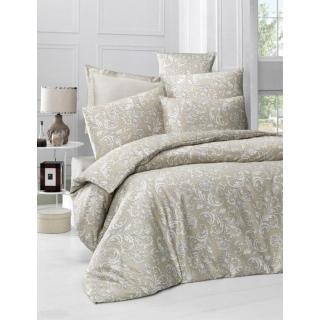 Комплект постельного белья Sateen VERANO бежевый 200x220/2x50x70/2x70x70 евростандарт