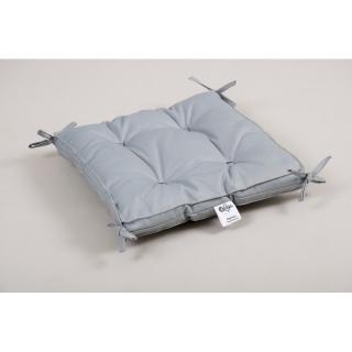 Подушка на стул 40x40x5 Optima с завязками серая