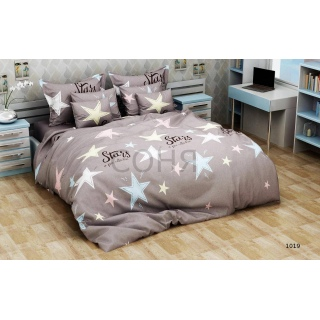 Комплект постельного белья 1019 Звезды бязь-голд-люкс Подростковый 《Соня》 — Папай | 16481-3373 • sonya1019 •