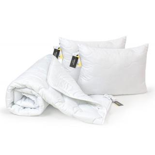 Набор Шелковый Всесезонный №1690 Eco Light White (одеяло 172x205 + 2 шт. подушки 50x70 средние) 《MirSon》 — Папай | 270421-41645 • ms2200002657068 •