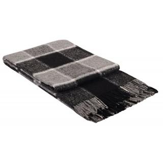 Плед Palermo 140x200 белый-серый-черный №4 《Vladi》 — Папай | 18885 • 18885 • 2200000018885