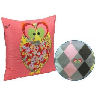 Подушка декоративная 306_Owl Red 50x50