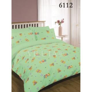 Комплект постельного белья 6112 зеленый ранфорс Детский 《Viluta (Вилюта)》 — Папай | 17-3406 • (Д)v6112 зелен •