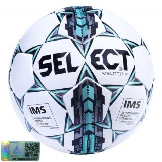 Футбольний м'яч Velocity IMS APPROVED (Розмір 5) 《Select》 — Папай | 220915-1418 • 046592-133 • 5703543091133