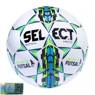 Футзальний м'яч Futsal Mimas white-blue-green (Розмір 4) 《Select》 — Папай | 220915-1448 • 105343-420 • 5703543104420