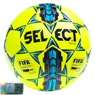 Футбольний м'яч Team FIFA approved yellow-blue (Розмір 5) 《Select》 — Папай | 220915-1509 • 367552-411 • 5703543096411