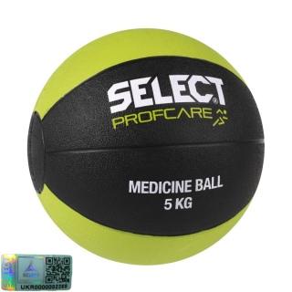 Мяч медицинский Medicine ball (011) черный-салатовый 5 кг 《Select》 — Папай | 27198-1478 • 260200-137 • 5703543204137