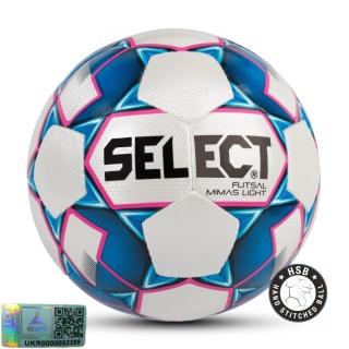 Футзальный мяч Futsal Mimas Light NEW белый-синий (Размер 4) 《Select》 — Папай   9535-1445 • 104143-065 • 5703543187065
