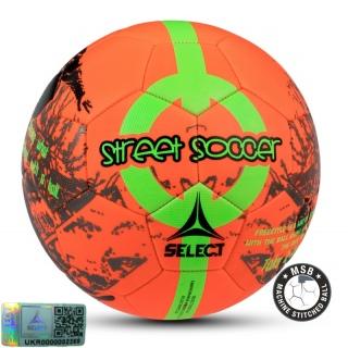 Футбольный мяч Street Soccer NEW оранжевый-зеленый (Размер 4.5) 《Select》 — Папай   9536-1436 • 095521-727 • 5703543175727