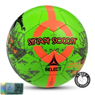 Футбольный мяч Street Soccer NEW зеленый-оранжевый (Размер 4.5) 《Select》 — Папай | 9537-1436 • 095521-649 • 5703543121649