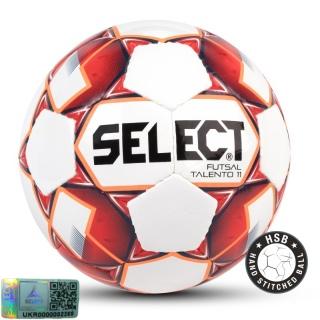 Футзальный мяч Futsal Talento 11 белый-класный (Размер 4) 《Select》 — Папай | 9540-1449 • 106143-133 • 5703543187133