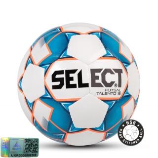Футзальный мяч Futsal Talento 13 белый-синий (Размер 5) 《Select》 — Папай | 9541-1450 • 106243-140 • 5703543187140