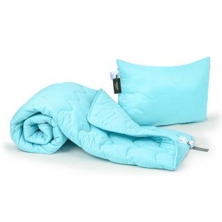 Набор антиаллергенный EcoSilk Всесезонный №1658 Eco Light Blue (одеяло 140x205 + подушка 50x70 средняя)
