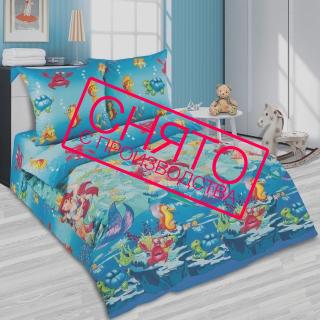 Комплект постельного белья Морская сказка поплин 《Kidsdreams》 — Папай | 220915-1008 • 2482 •