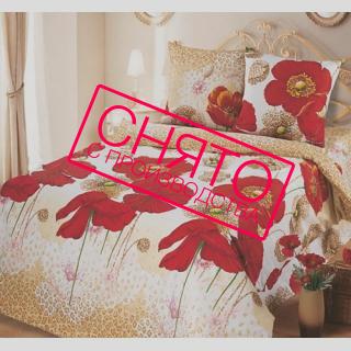 Комплект постельного белья Летние маки 《Top Dreams》 — Папай | 220915-1039 • 2314 •