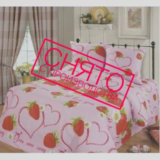 Комплект постельного белья Клубничка 《Top Dreams》 — Папай | 220915-1051 • 2321 •