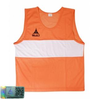 Манишка-накидка тренировочная Bibs Standard senior оранжевый 《Select》 — Папай | 220915-1828 • 683300-320 • 5703543680320
