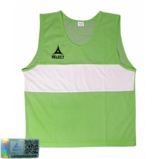 Манишка-накидка тренировочная Bibs Standard senior зеленый 《Select》 — Папай | 220915-1834 • 683300-306 • 5703543680306