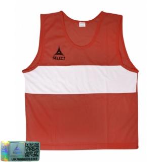 Манишка-накидка тренировочная Bibs Standard senior красный 《Select》 — Папай | 220915-1840 • 683300-832 • 5703543031832
